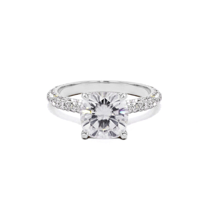Christina Cushion Engagement Rings Sarah Nicole 3 14K White Gold