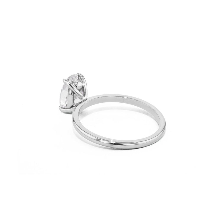 Cindie Oval Solitaire Engagement Rings Princess Bride Diamonds