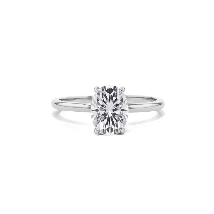 Cindie Oval Solitaire Engagement Rings Princess Bride Diamonds 3 14K White Gold
