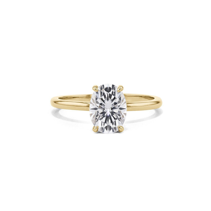 Cindie Oval Solitaire Engagement Rings Princess Bride Diamonds 3 14K Yellow Gold