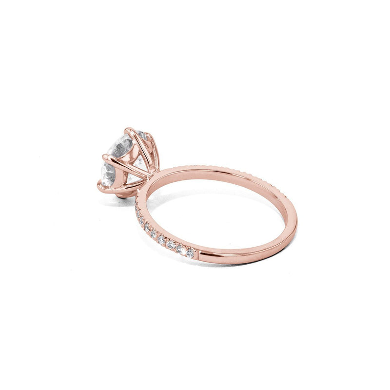 Cindie Round Engagement Rings Princess Bride Diamonds