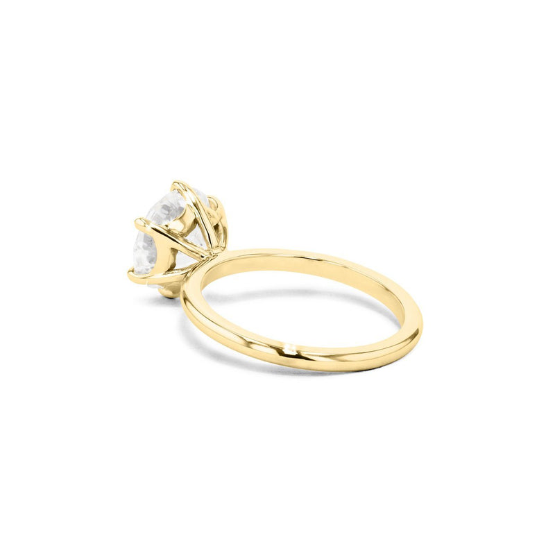 Cindie Round Solitaire Engagement Rings Princess Bride Diamonds