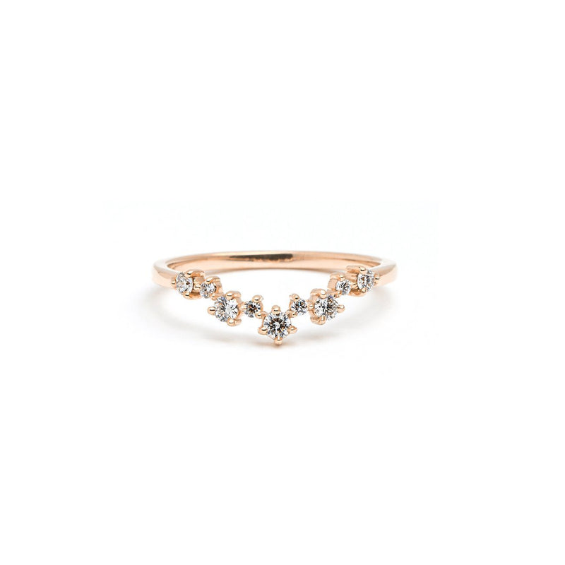 Constellation Diamond Ring Ring Princess Bride Diamonds 3 14K Rose Gold