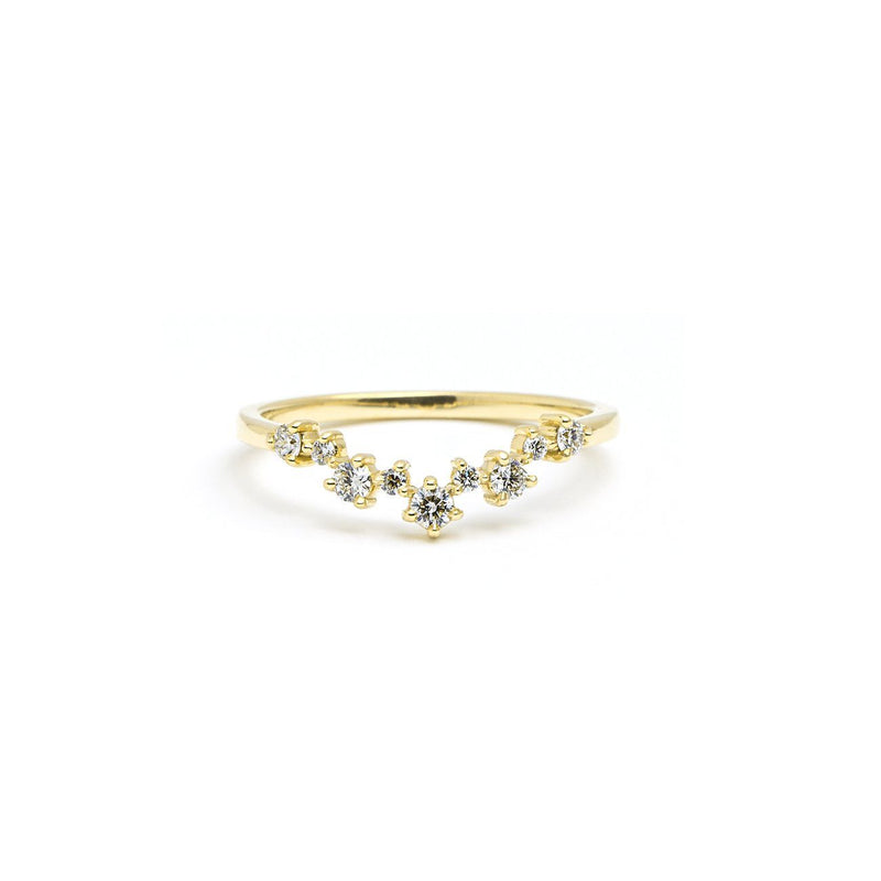 Constellation Diamond Ring Ring Princess Bride Diamonds 3 14K Yellow Gold