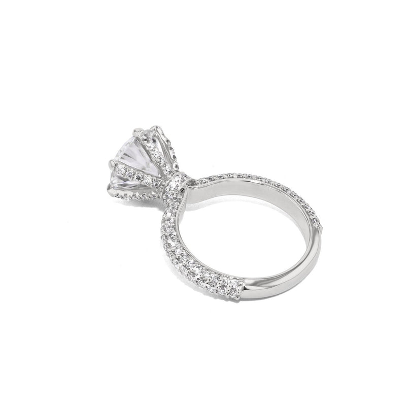Crystal Round Engagement Rings Princess Bride Diamonds