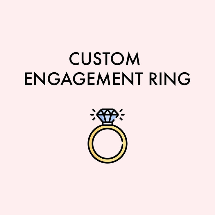 Custom Engagement Ring Alberto First Payment (4/30 ek) Pending Princess Bride Diamonds