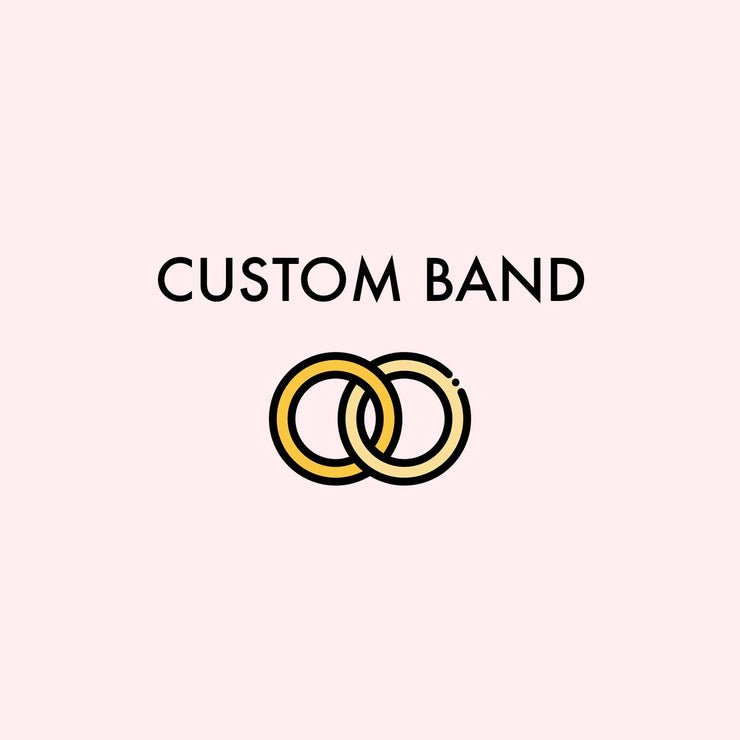 Custom Wedding Band Second Payment - Janine T (04/11/21 YG) Pending Princess Bride Diamonds