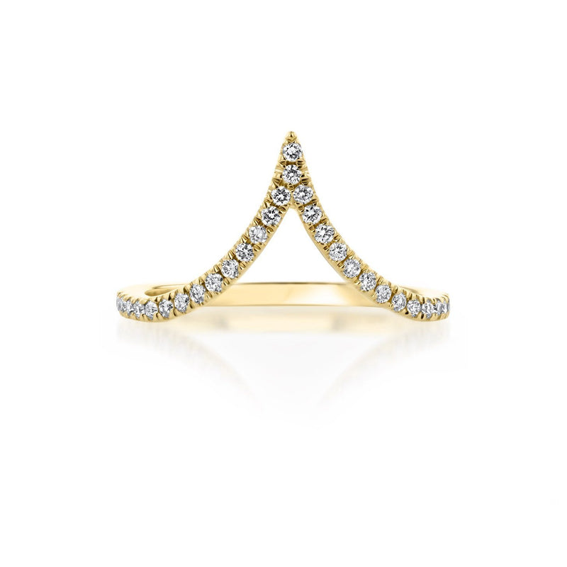 Deep Chevron Diamond Ring Ring Princess Bride Diamonds 3 14K Yellow Gold