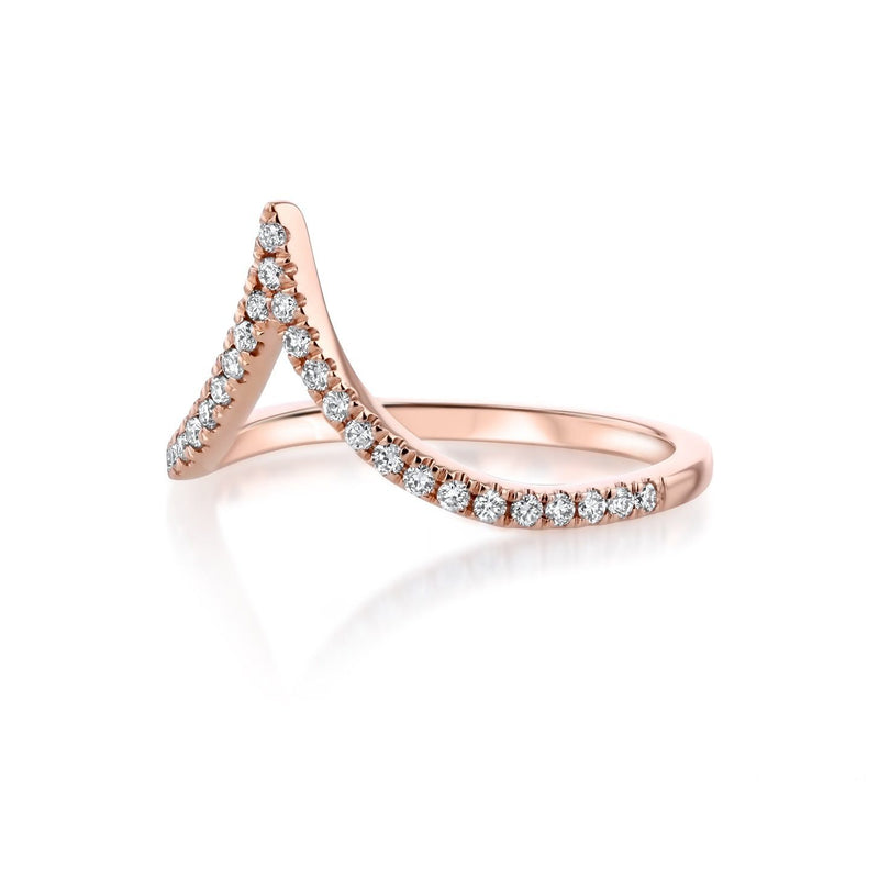 Deep Chevron Diamond Ring Ring Princess Bride Diamonds