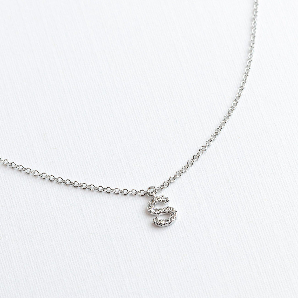 Diamond Initials Necklace Necklaces Princess Bride Diamonds