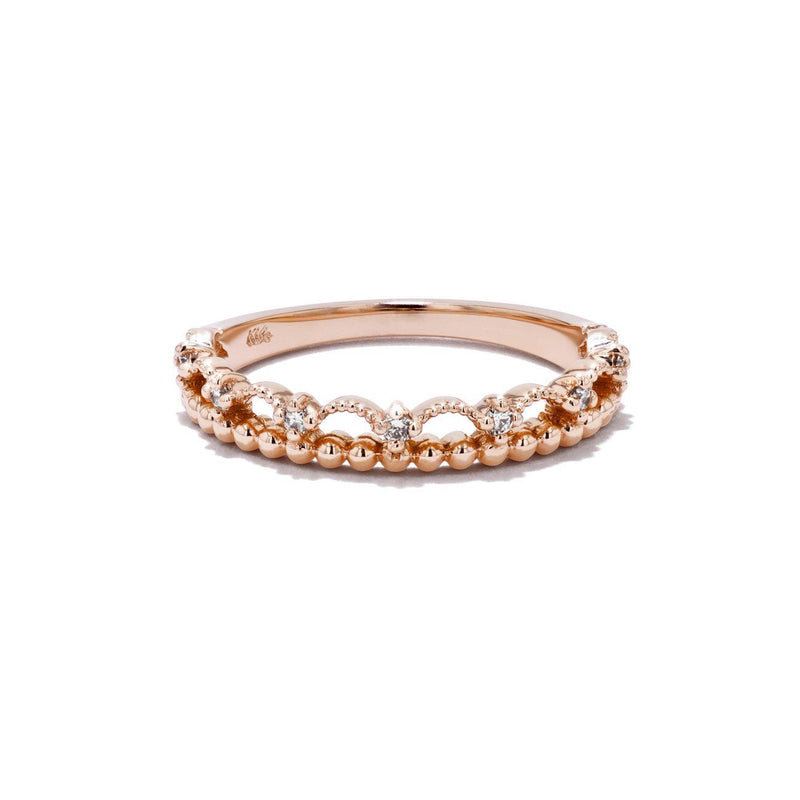 Diamond Lace Ring Ring Princess Bride Diamonds 3 14K Rose Gold