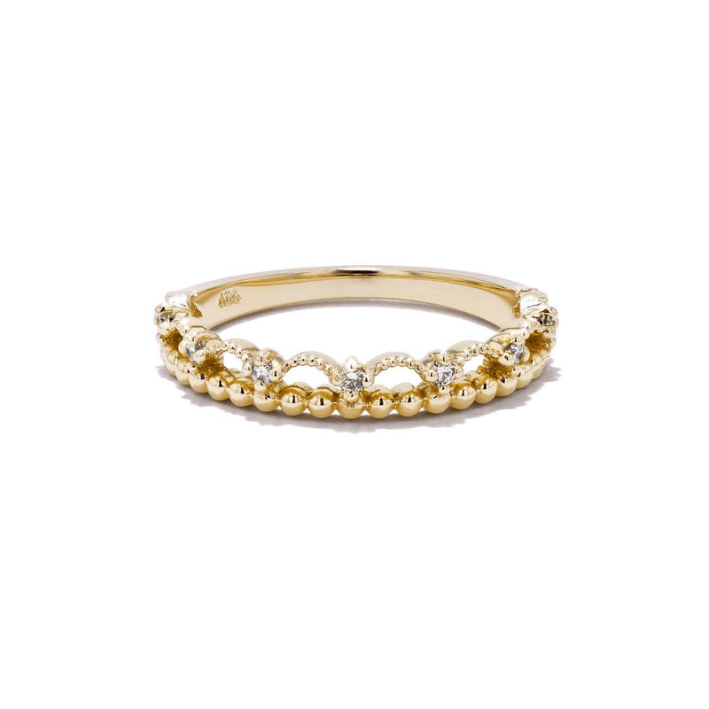 Diamond Lace Ring Ring Princess Bride Diamonds 3 14K Yellow Gold