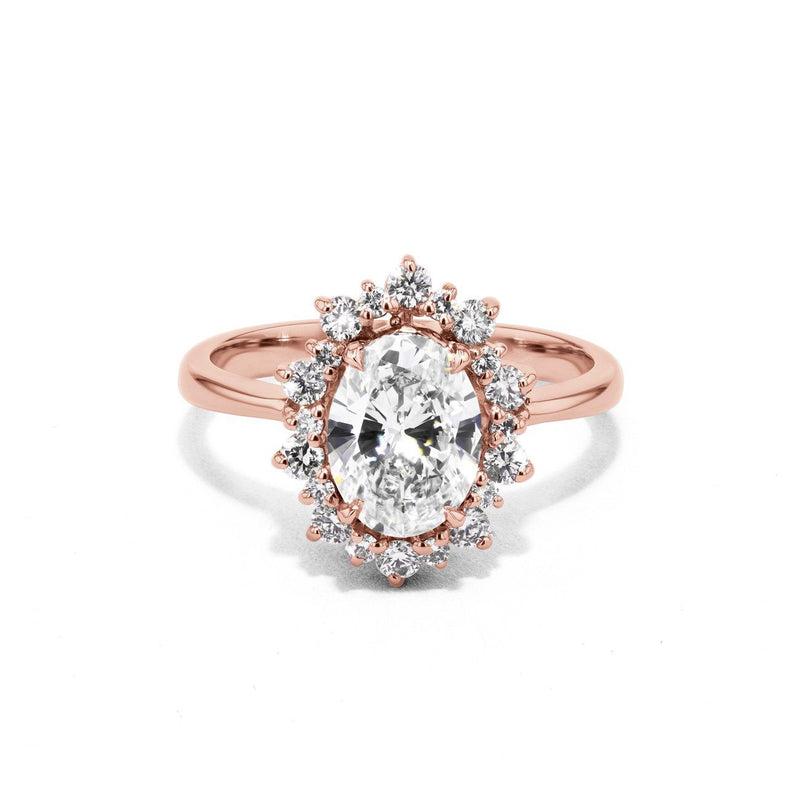 Duchess Oval Engagement Rings Sarah Nicole 3 14K Rose Gold
