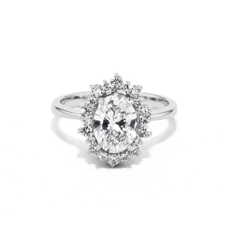 Duchess Oval Engagement Rings Sarah Nicole 3 14K White Gold