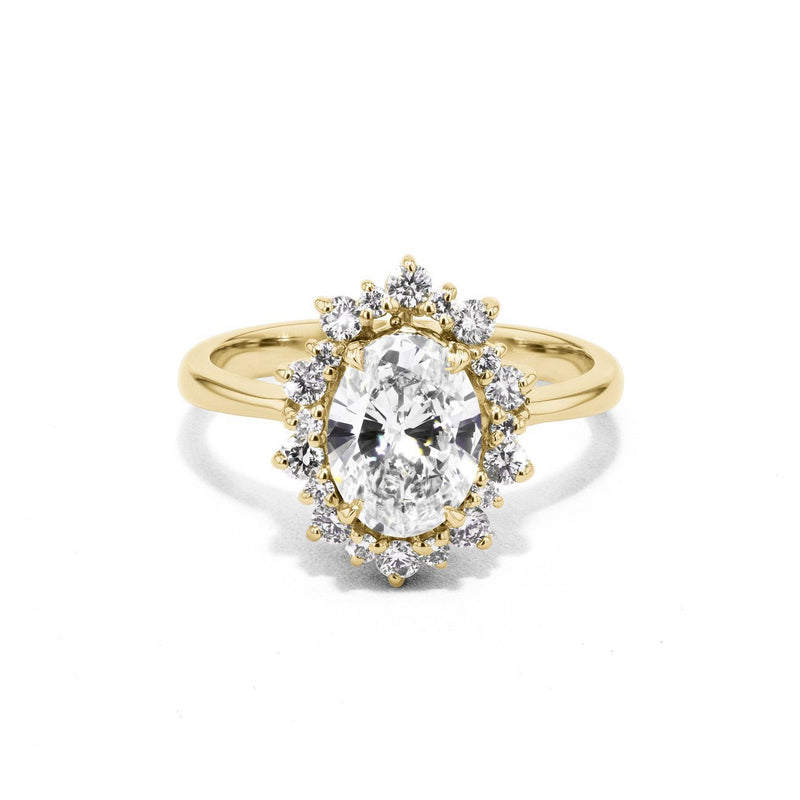 Duchess Oval Engagement Rings Sarah Nicole 3 14K Yellow Gold