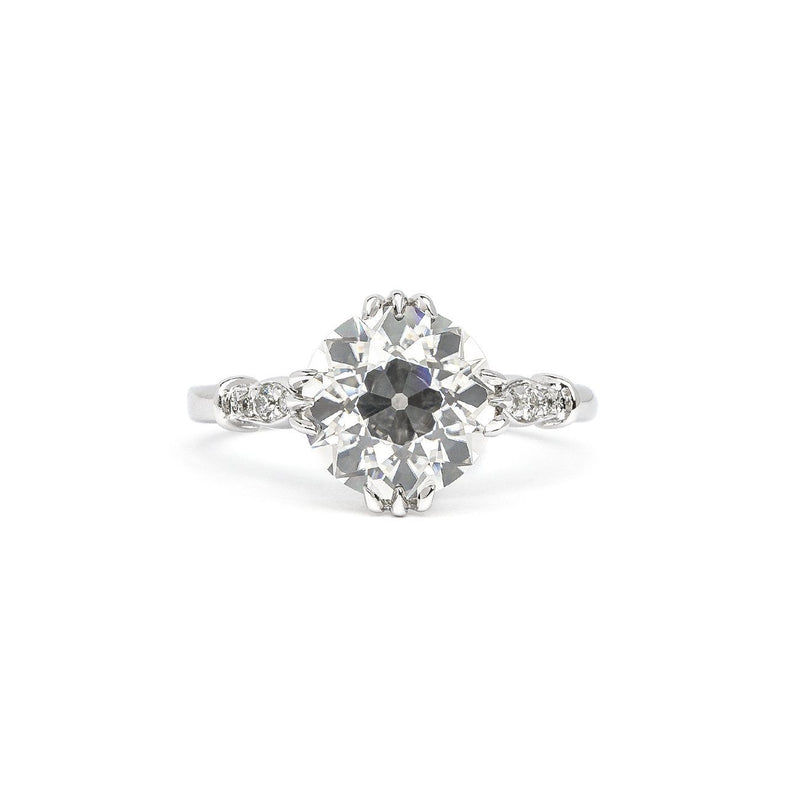 Eleanor Round Engagement Rings Princess Bride Diamonds 3 14K White Gold