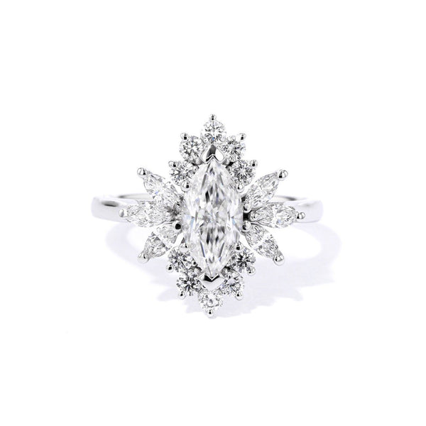 Elsa Marquise Engagement Rings Princess Bride Diamonds