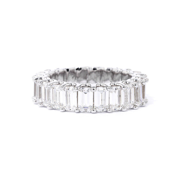 Eternity Emerald Cut 6ct Moissanite U-Prong Ring Ring Princess Bride Diamonds