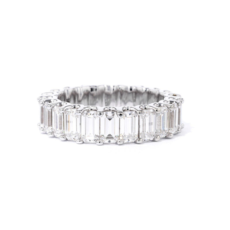 Eternity Emerald Cut Moissanite U-Prong Ring Ring Princess Bride Diamonds