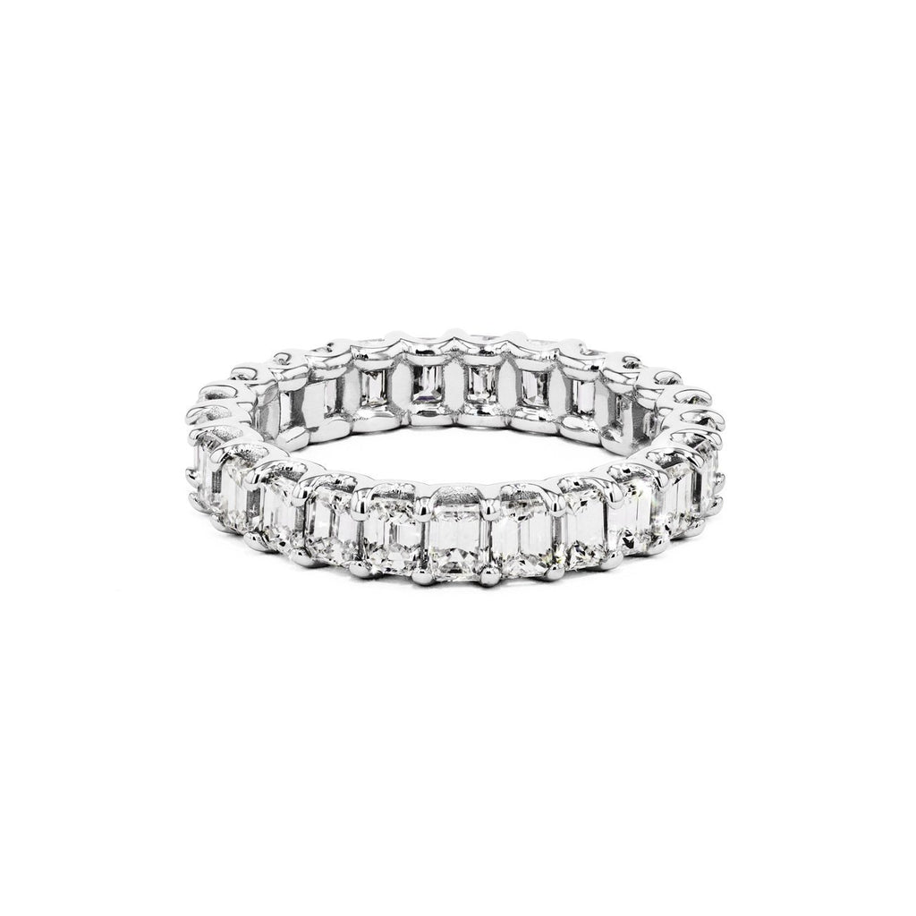 Eternity Emerald Cut U-Prong Ring Ring Princess Bride Diamonds