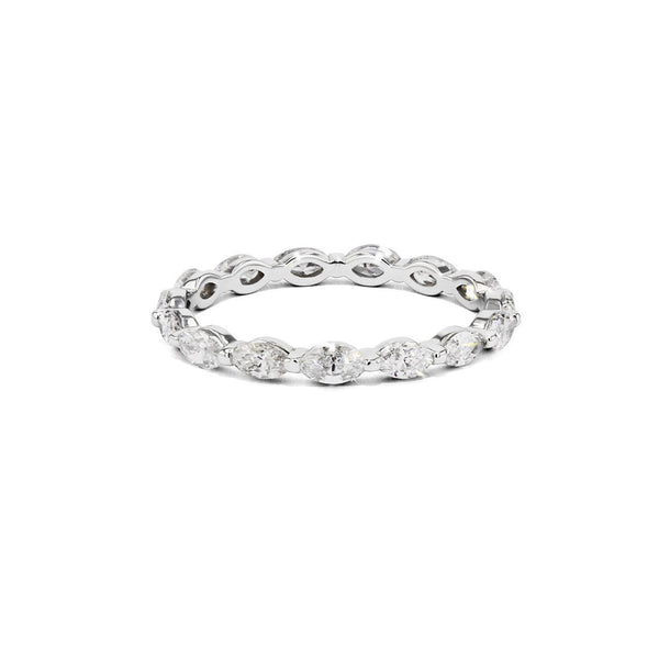 Floating Marquise Diamond Eternity Ring - Size 6 Ring Princess Bride Diamonds