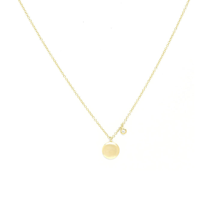 Gold Disk Necklace With Diamond Drop Necklaces Princess Bride Diamonds