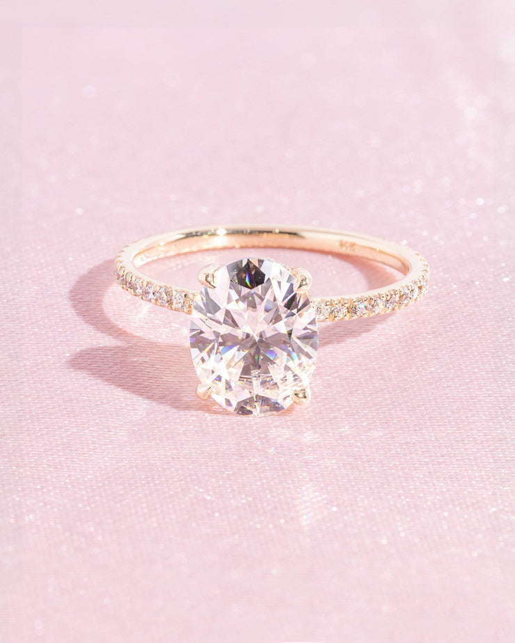 Kayla (2.5ct) 10x7mm Oval Moissanite Engagement Ring Engagement Rings Princess Bride Diamonds