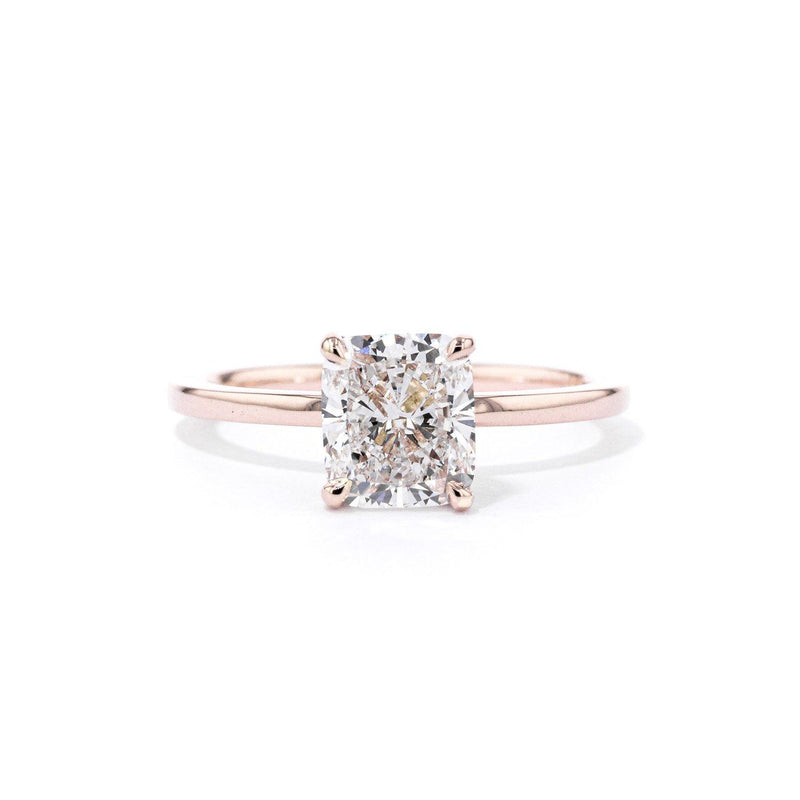 Kayla Cushion High Polish Engagement Rings Princess Bride Diamonds 3 14K Rose Gold