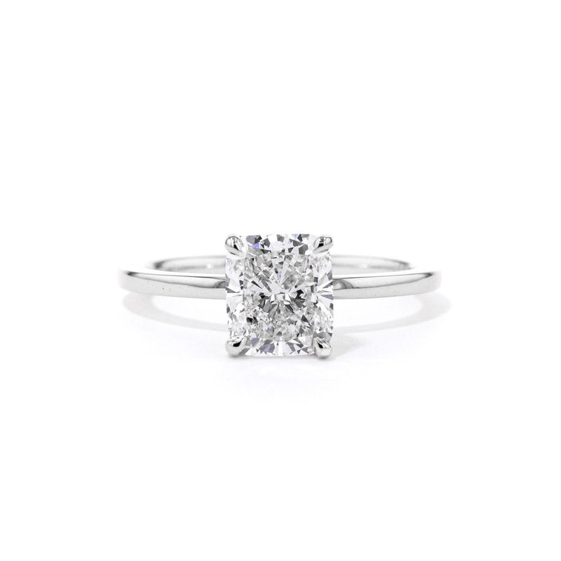 Kayla Cushion High Polish Engagement Rings Princess Bride Diamonds 3 14K White Gold