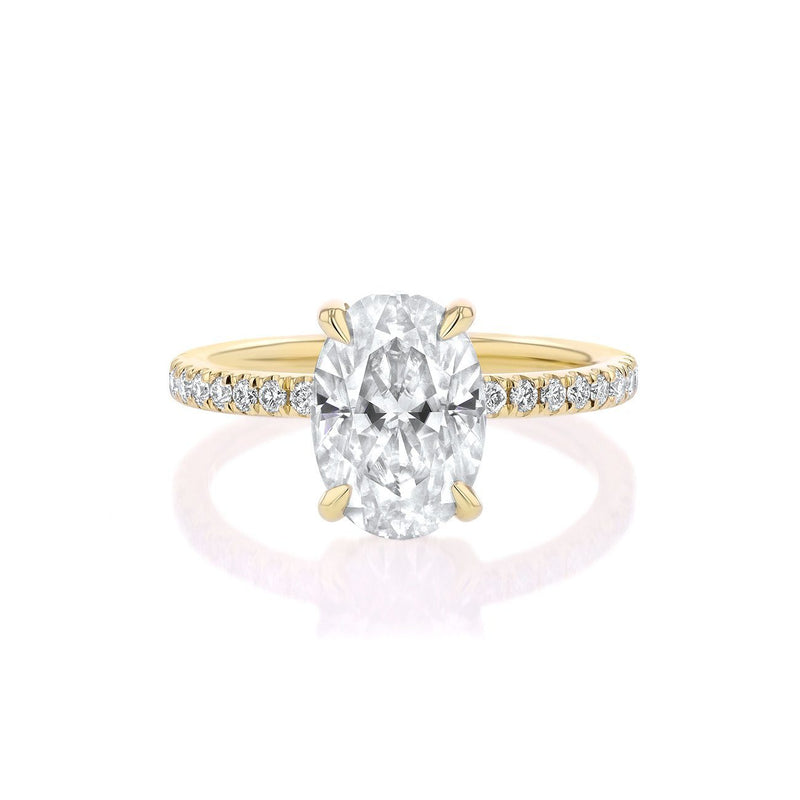 Kayla Oval Engagement Rings Sarah Nicole 3 14K Yellow Gold