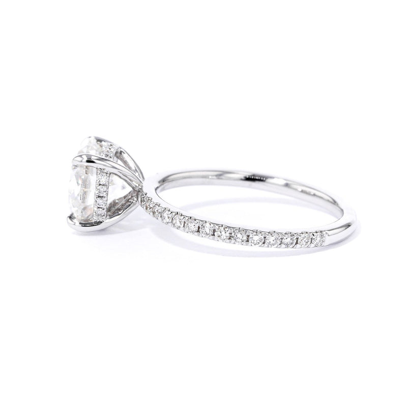 Kayla Round Engagement Rings Princess Bride Diamonds
