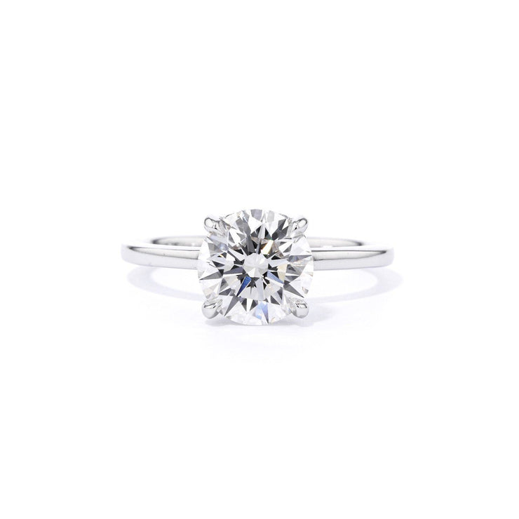 Kayla Round High Polish Engagement Rings Princess Bride Diamonds
