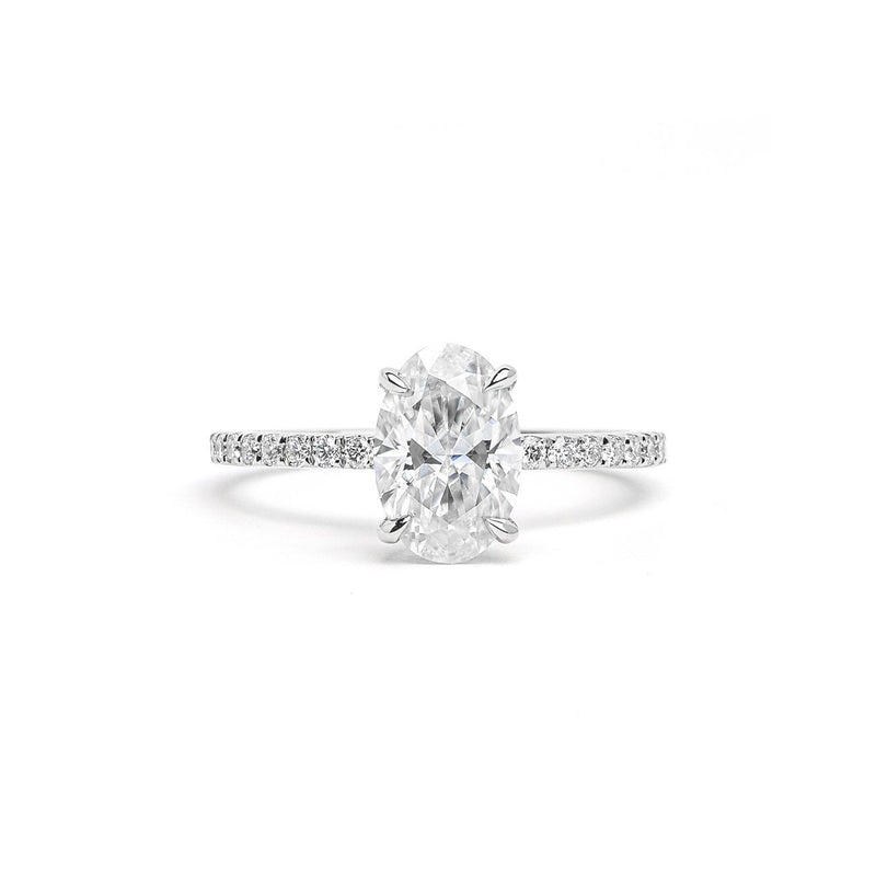 Leah Oval Engagement Rings Princess Bride Diamonds 3 14K White Gold