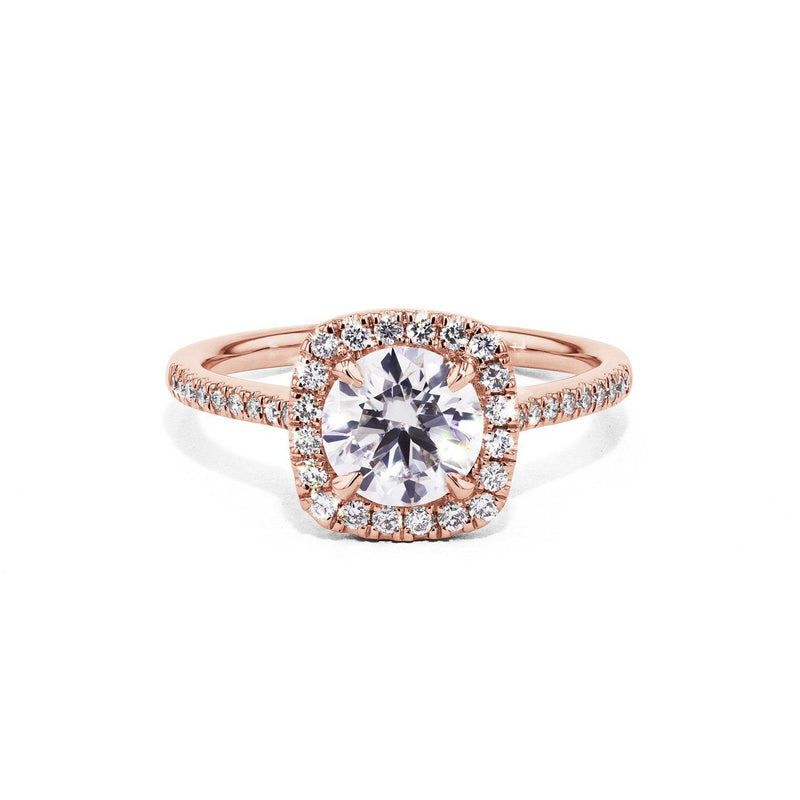 Lynn Cushion Engagement Rings Princess Bride Diamonds 3 14K Rose Gold