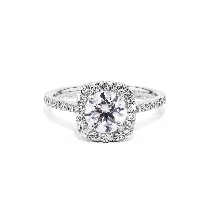 Lynn Cushion Engagement Rings Princess Bride Diamonds 3 14K White Gold