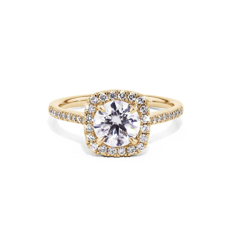 Lynn Cushion Engagement Rings Princess Bride Diamonds 3 14K Yellow Gold