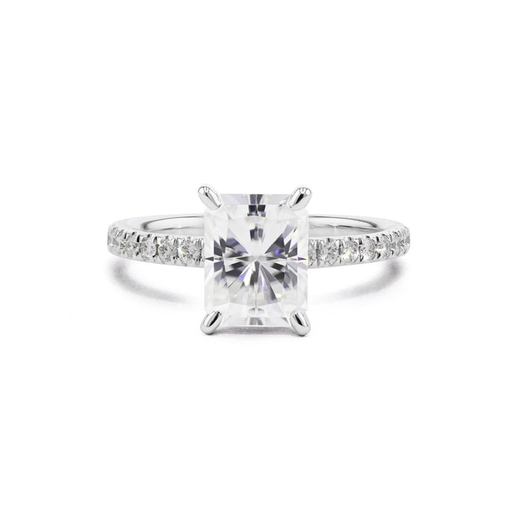 Maggie Radiant Engagement Rings Princess Bride Diamonds 3 14K White Gold