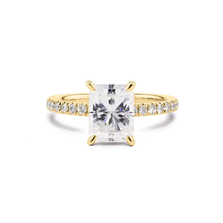 Maggie Radiant Engagement Rings Princess Bride Diamonds 3 14K Yellow Gold