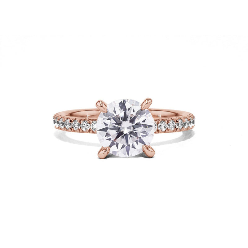 Maggie Round Engagement Rings Sarah Nicole 3 14K Rose Gold