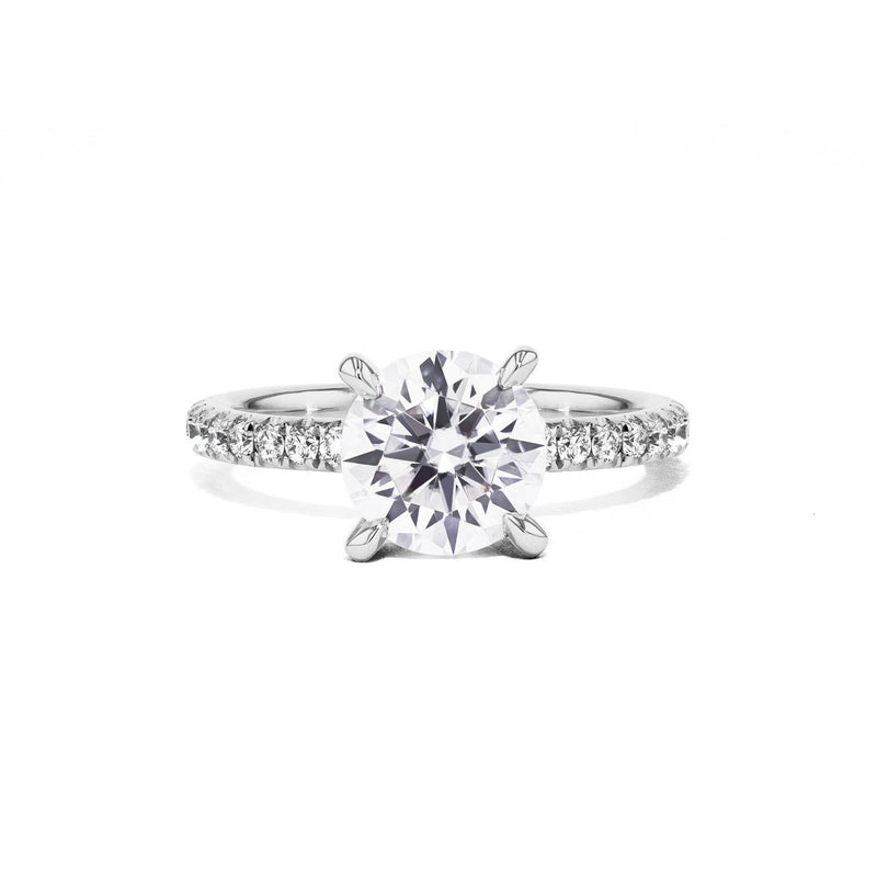 Maggie Round Engagement Rings Sarah Nicole 3 14K White Gold