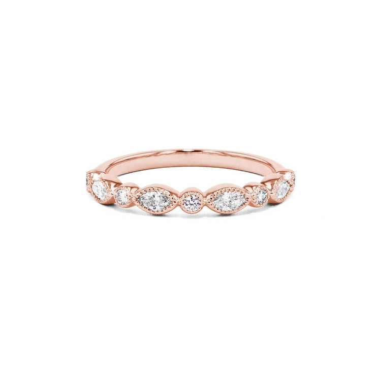 Marissa Marquise And Round Ring Ring Sarah Nicole 3 14K Rose Gold
