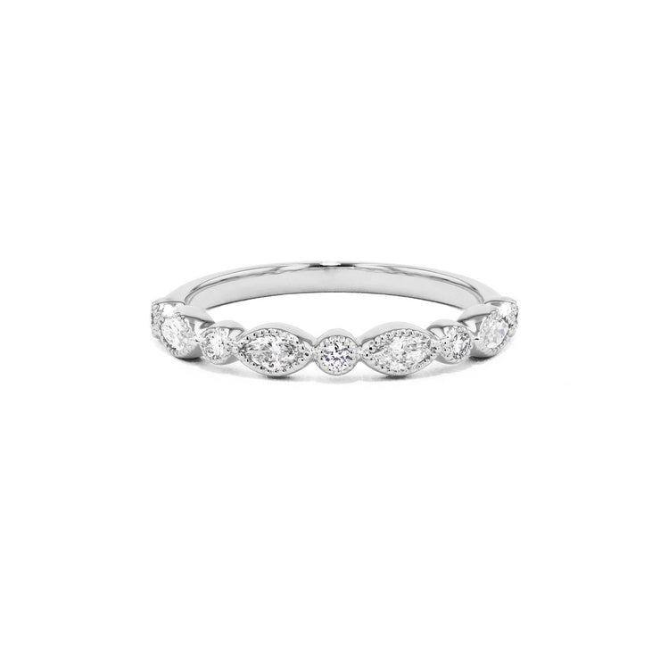 Marissa Marquise And Round Ring Ring Sarah Nicole 3 14K White Gold