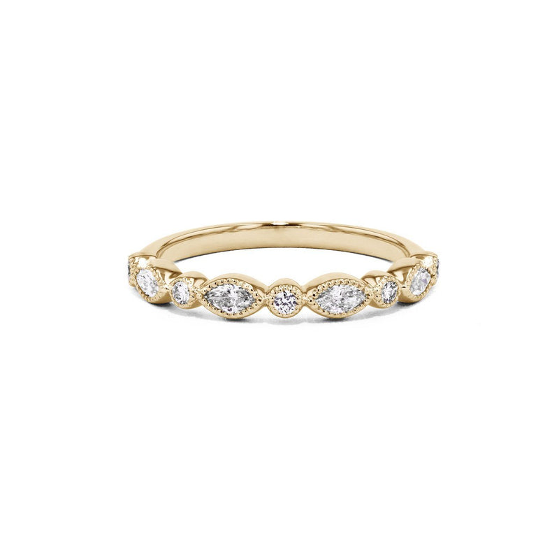 Marissa Marquise And Round Ring Ring Sarah Nicole 3 14K Yellow Gold