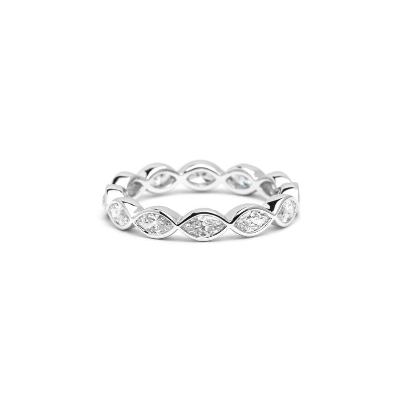 Marquise Diamond Bezel Eternity Ring Ring Princess Bride Diamonds
