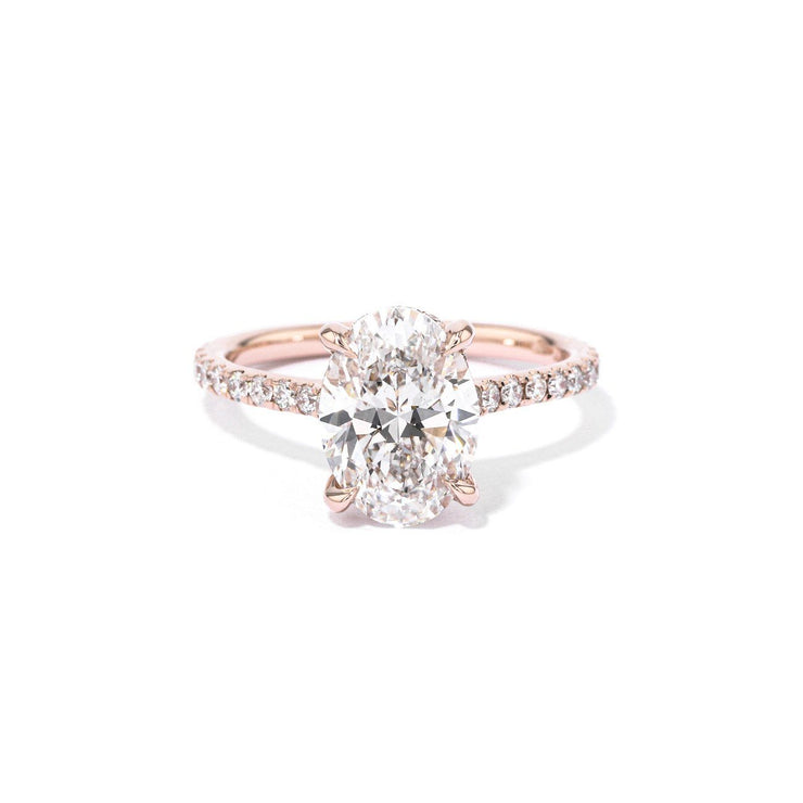 Michelle Oval Engagement Rings Princess Bride Diamonds 3 14K Rose Gold