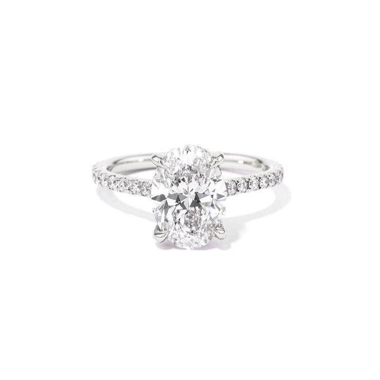 Michelle Oval Engagement Rings Princess Bride Diamonds 3 14K White Gold