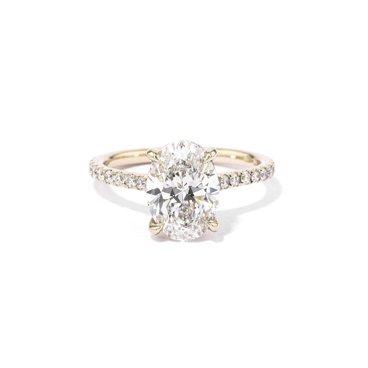 Michelle Oval Engagement Rings Princess Bride Diamonds 3 14K Yellow Gold