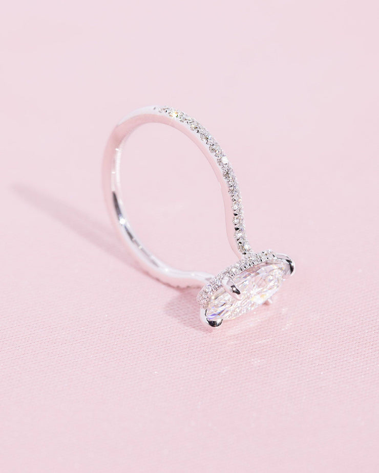 Nicole (2.5ct) 10x7mm Oval Moissanite Engagement Ring Engagement Rings Princess Bride Diamonds