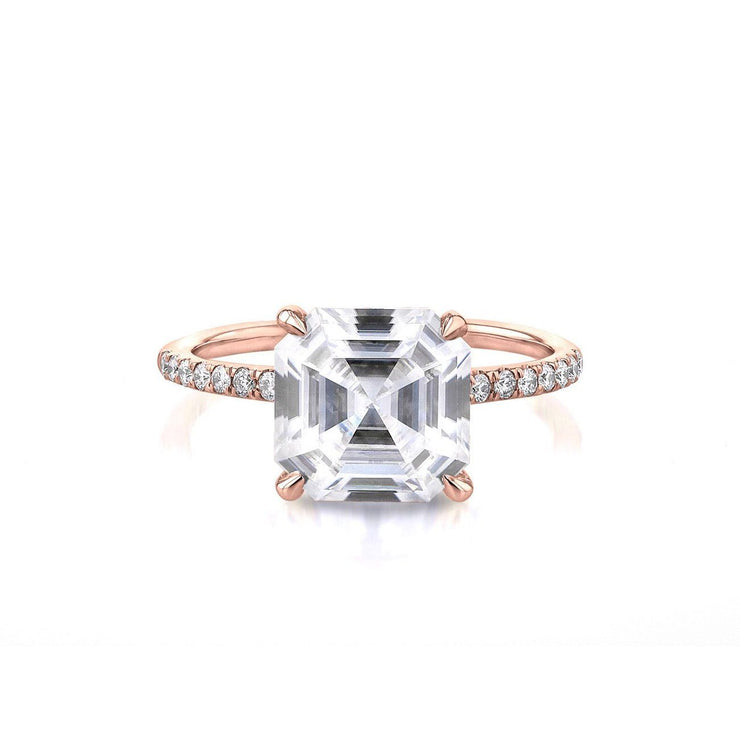Nicole Asscher Engagement Rings Princess Bride Diamonds 3 14K Rose Gold