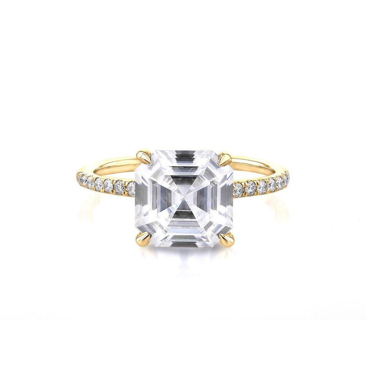 Nicole Asscher Engagement Rings Princess Bride Diamonds 3 14K Yellow Gold